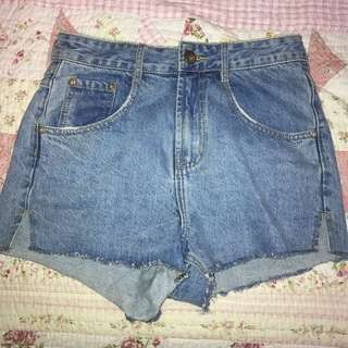 Flashback high waisted denim shorts