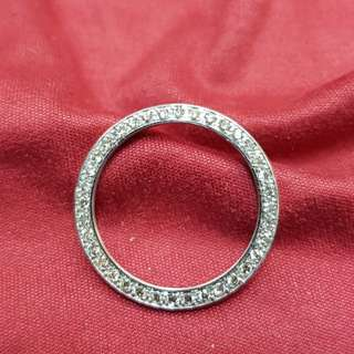 18k white gold diamonds bazel