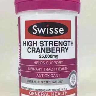 SWISSE: 高濃度蔓越莓精華 (30粒裝)HIGH STRENGTH CRANBERRY 25000