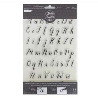 modern calligraphy clear stamps letters