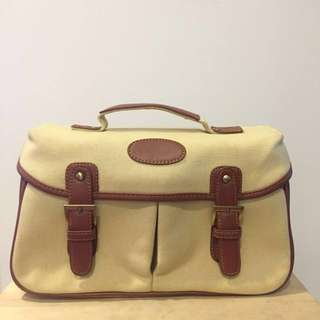 Beige Camera Bag with Removable Insert