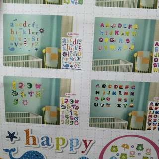 Alphabets and Numbers Wall Decor