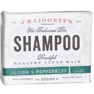 J.R. Liggett's, Old Fashioned Bar Shampoo, Jojoba & Peppermint, 3.5 oz (99 g)