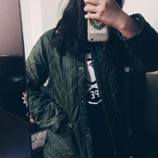 🚚 古著美品 英製 軍綠格紋外套