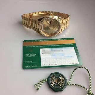 Rolex勞力士星期日歷型40mm黃金腕表228238-83418 A