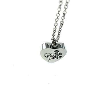 """Pet keepsake necklace - Heart shaped """"Always in my heart"""" pendant I"""
