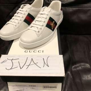 Authentic Gucci Ace Bee 🐝 Size 10