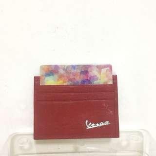 Vespa leather card holder