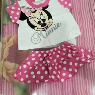 Minnie Mouse Top and Skirt