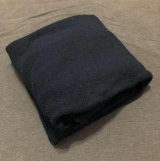 韓組 經典黑袖子波浪針織長洋