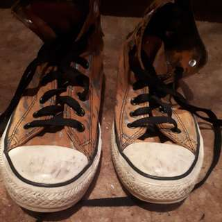 TIGER skin Converse All Star shoes