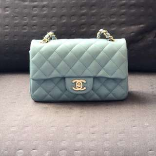 Authentic Chanel Mini Caviar with Gold Hardware