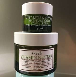 fresh beauty Vitamin Nectar face mask (30ml) & face cream (7ml)