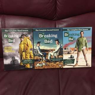Breaking Bad 絕命毒師 Season 1-3 DVD (can buy separately)