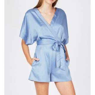 Candidate Kimono Playsuit Dusty Blue