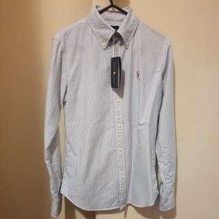 Ralph Lauren Blue Stripe Shirt - XS