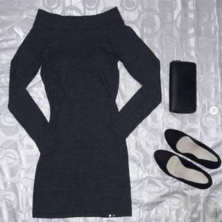REPRICED - Gray Off Shoulder