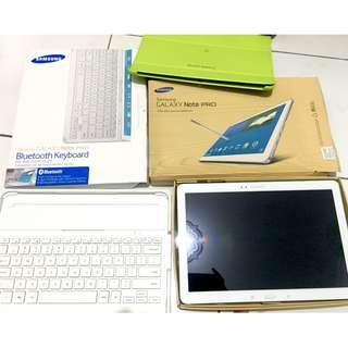 "Tablet Samsung Galaxy Note Pro 12.2"" 32 GB Putih + Keyboard, Case"