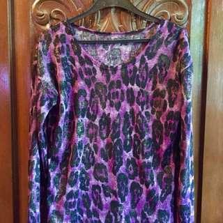 Purple Long Sleeves (Animal Print)