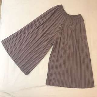 Pleated Kulot Grey