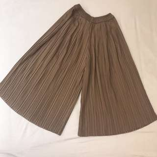 Pleated Kulot Brown