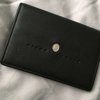 Pierre Cardin leather business name cardholder (NEW)