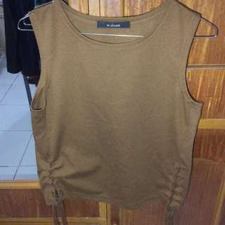 Tie-knot Sleeveless Coffee Top