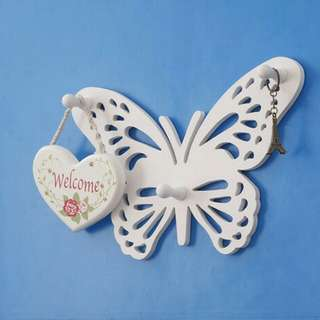 Simple Butterfly Hanger Rack Decorative Rack shabby chic