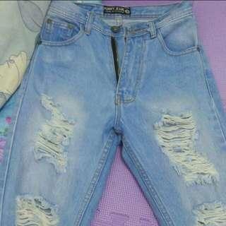 Punny Highwaist Ripped Denim Jeans