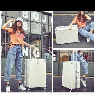 """29"""" White Luggage (Instock)"""
