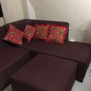 Sofa set large 4 months used