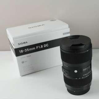 Sigma 18-35 Art f1.8 (Nikon mount)