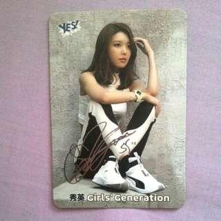 Girls' generation 少女時代 秀英 yescard 銀簽 已絕版
