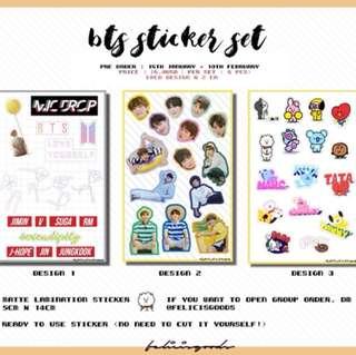 BTS Sticker Set