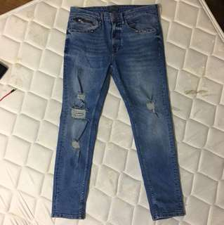 Authentic Men's Zara Distressed Jeans Size 31us