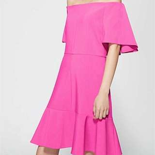 Pink Witchery off the shoulder dress