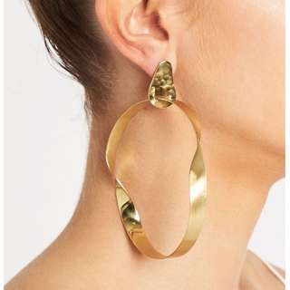 Sass and Bide Twisted Facade Earrings (gold) BNIB