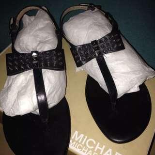 Michael Kors Bow Sandal Black Leather