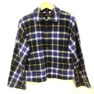 Comme des garçons blue checkers shirt size M