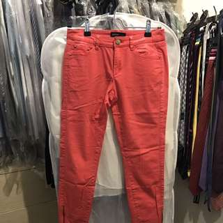 Mango Zippered Cropped Pants