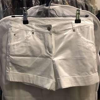 Mango White Shorts