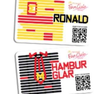McDonald's Card 2018 𣎴議價$100/套