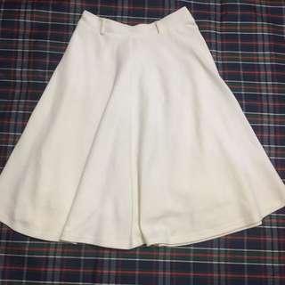 貓咪曬月亮 白色 棉質 圓裙 M號 MOONCAT