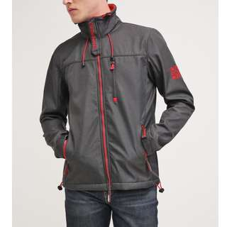SUPERDRY LIGHT JACKET MATTE BLACK MARL/REBEL RED