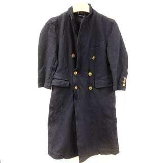 Comme des garçons dark blue long jacket size S