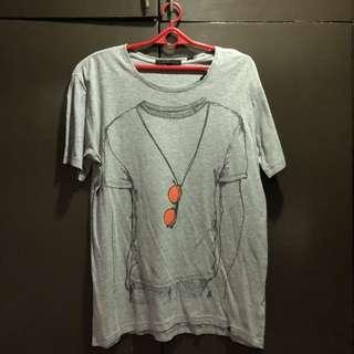Pre-loved Forever 21 Men Gray Printed Shirt