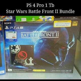 Kredit PS4 Pro 1Tb Star Wars Battle Front II Tanpa CC