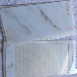 Screen protector front and back with plastic case