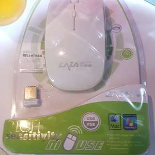 2.4Ghz Wireless Slim Laser Optical Mouse With USB Receiver (White)