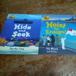 Singapore Navy children storybooks,2 books for $12